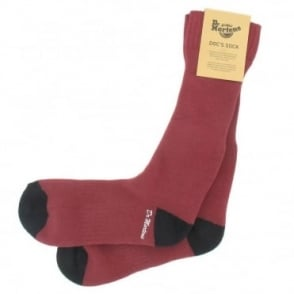 Dr Martens Unisex Doc's Sock - Oxblood & Black