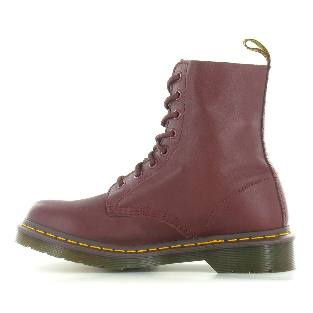 1f93f8e49bd Womens Pascal Leather 8-Eyelet Boots – Cherry Red