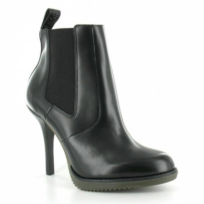 cecb53591ac Dr Martens Zita Roni Womens Leather Stiletto Heel Chelsea Boot - Black