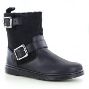 Dr Martens Elate Gayle FL Womens Leather Biker Chukka Boots - Black