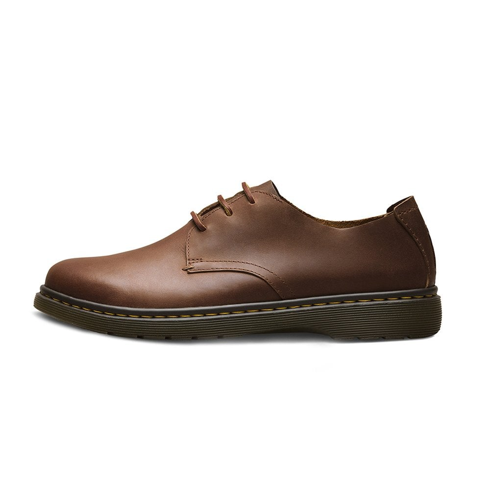 36c4ce449d8f Dr Martens Elsfield Softwair Mens 3-Eyelet Leather Shoes in Tan