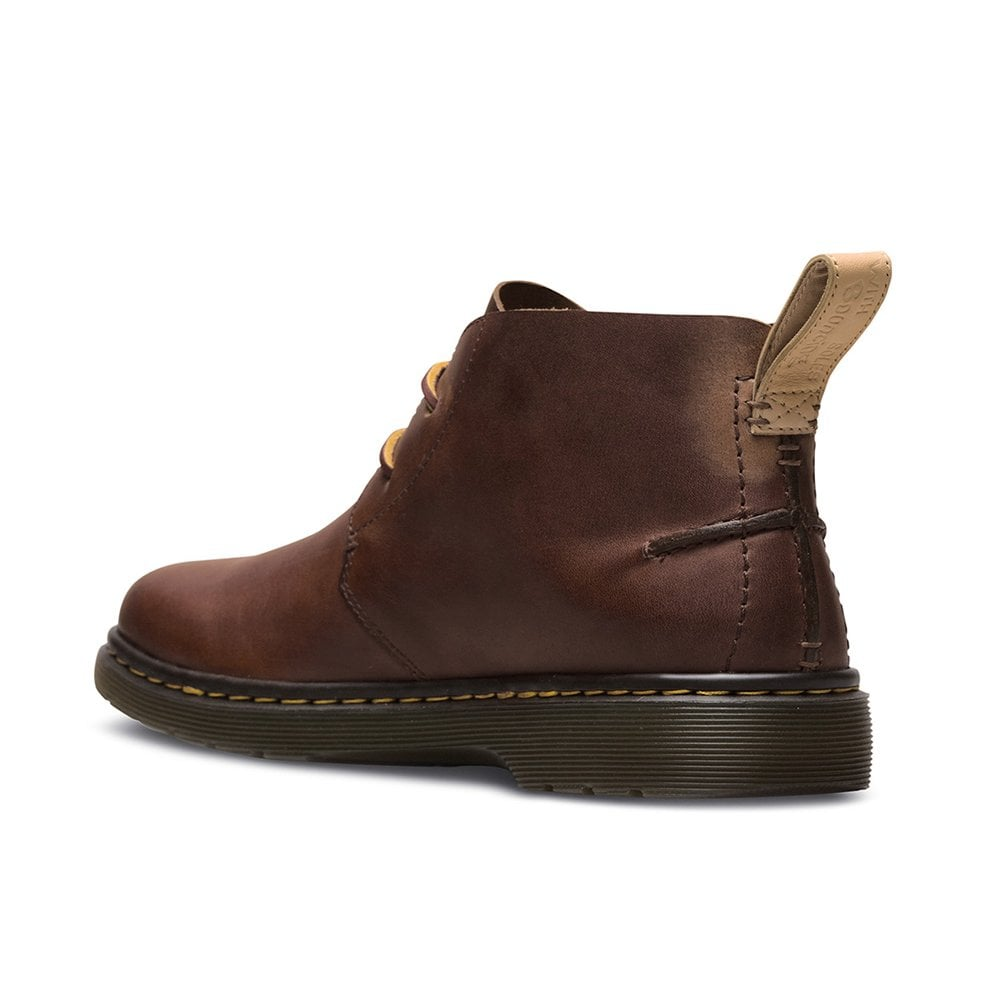 eac4f24fb8d Dr Martens Ember Softwair Mens 2-Eyelet Leather Chukka Boots - Tan