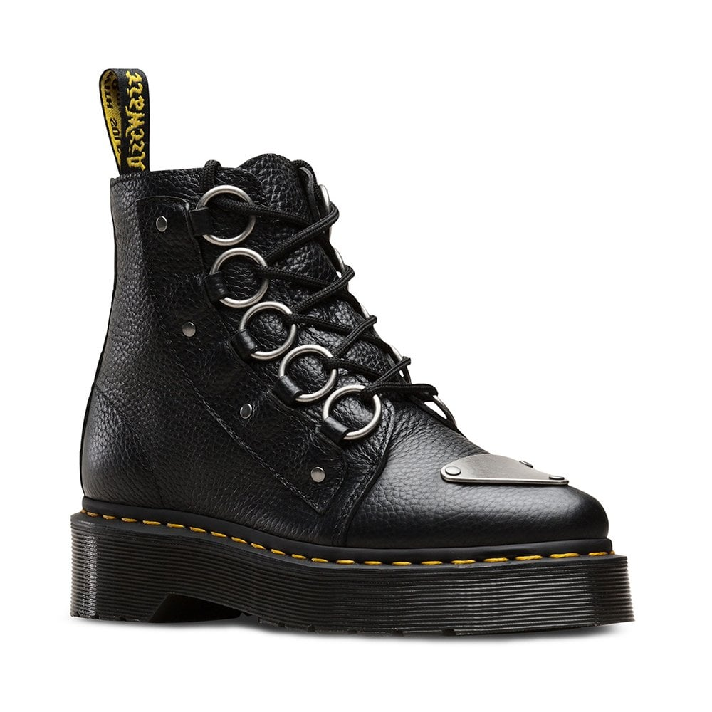 eff0d84d8c0 Dr Martens Farylle Womens Leather Ankle Boots - Black