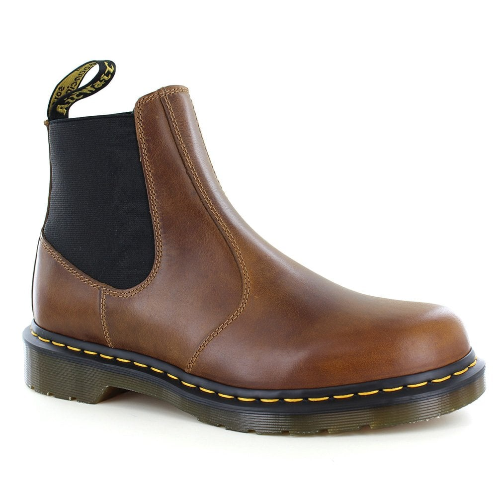 eb5749f10cf4 Dr Martens Hardy Mens Leather Pull-Up Chelsea Boots - Butterscotch Brown