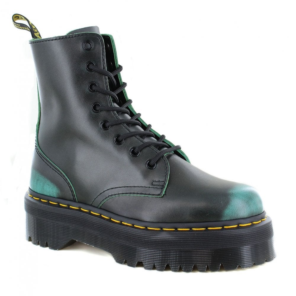 DR MARTENS Jadon Unisex Leather 8-Eyelet Boots - Green abdc68f4a83c