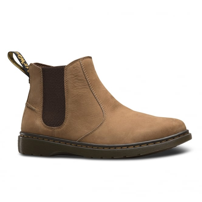 Dr Martens Lyme Mens Leather Pull-On Chelsea Boots - Tan