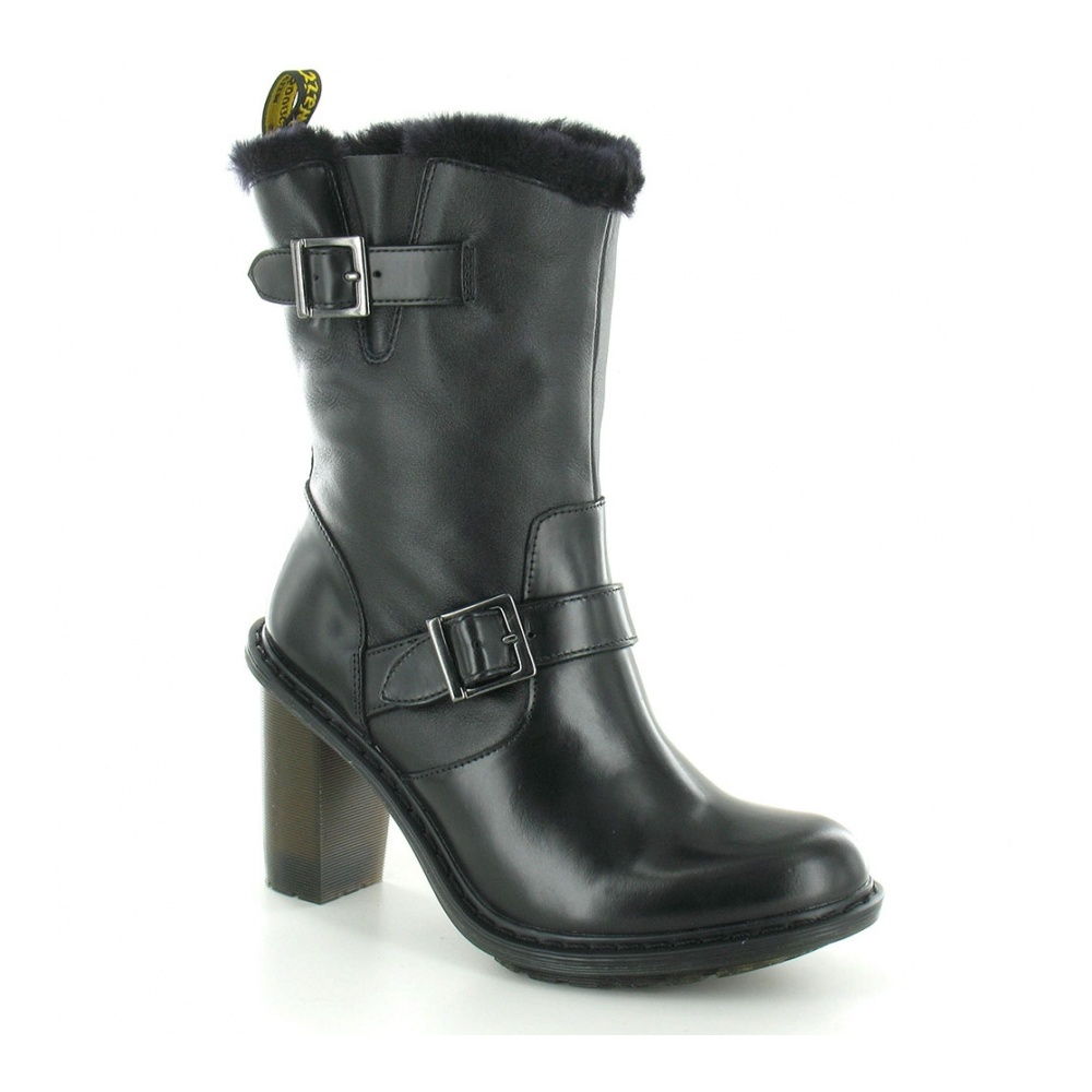 7b2a0fef59514 Dr Martens Parkway Hanna Womens Heeled Leather Boot in Black at ...