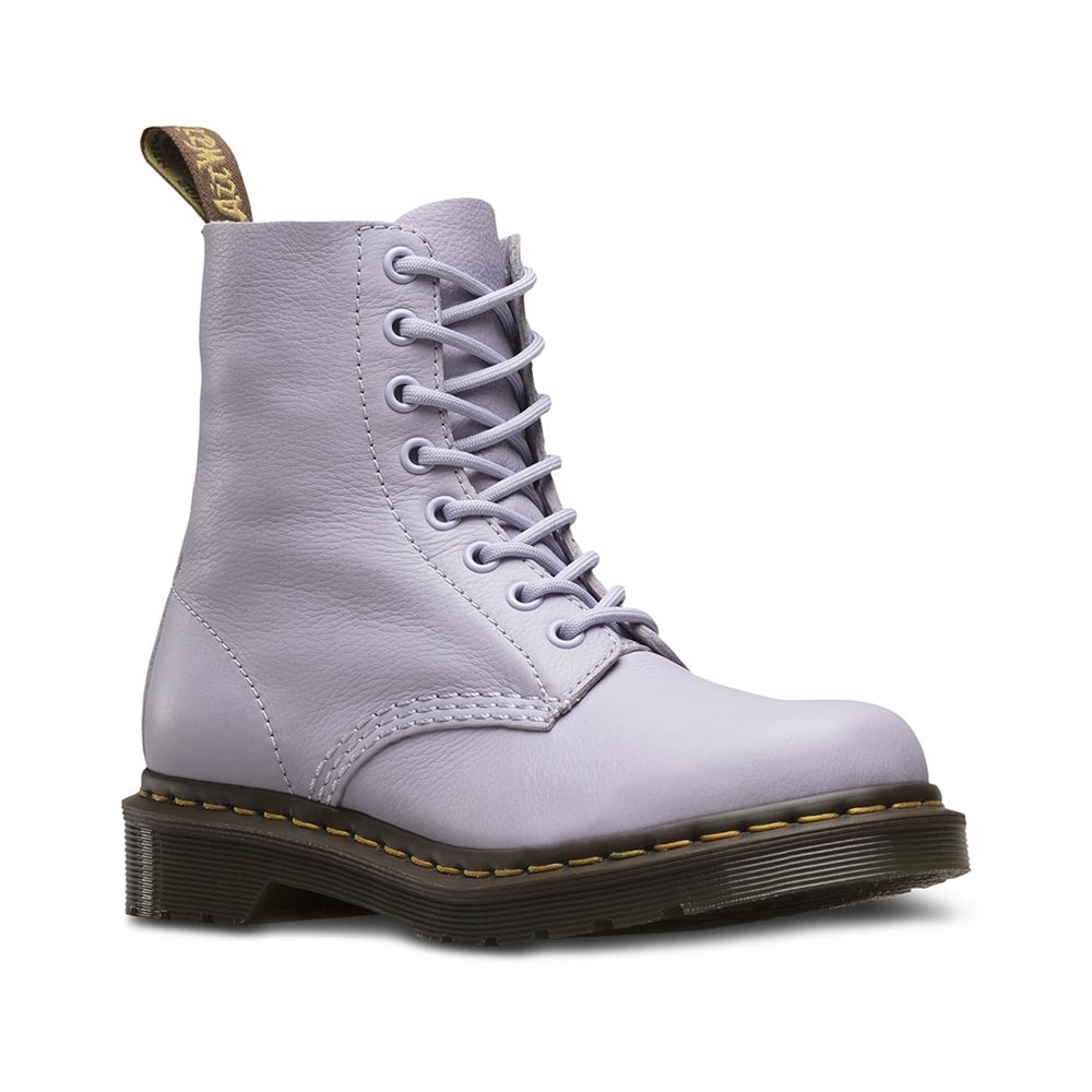 53404555a03d4 Dr Martens Pascal Womens Leather 8-Eyelet Ankle Boots - Purple Heather