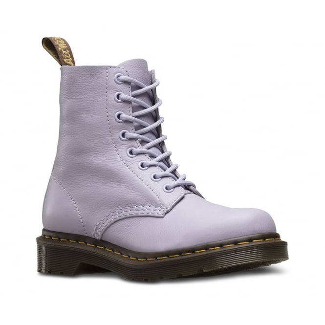 Dr Martens Pascal Womens Leather 8-Eyelet Ankle Boots - Purple Heather