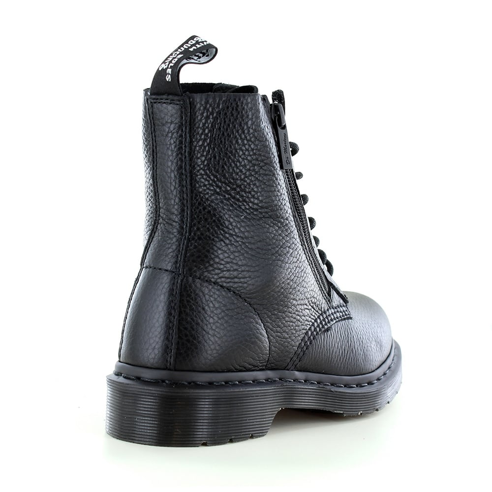 san francisco high quality sale Pascal Womens Leather 8-Eyelet Zip Boots - Black