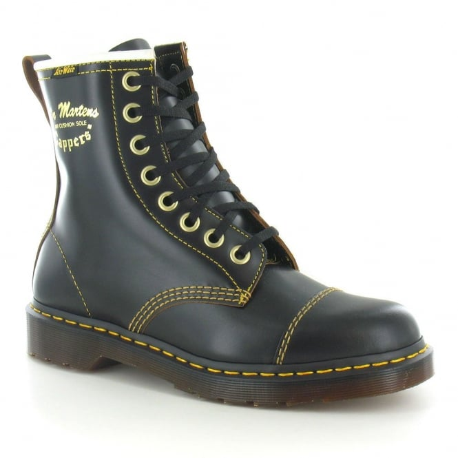 Dr Martens Philips Capper Unisex Leather Boots - Black