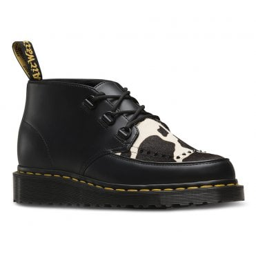 0a781ea5a4 Dr Martens Ramsey Mens and Womens Leather and Hair-On Chukka Boots - Black