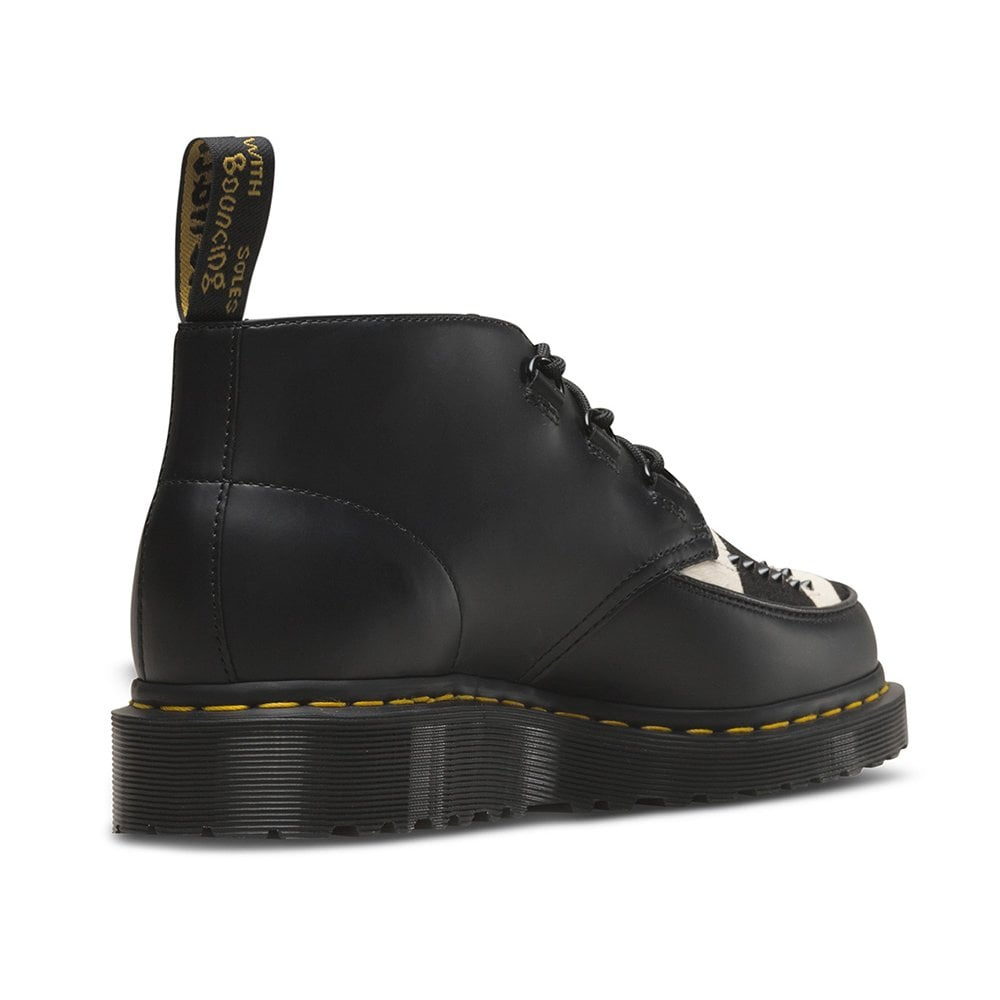 062491a42422 Dr Martens Ramsey Mens and Womens Leather and Hair-On Chukka Boots - Black