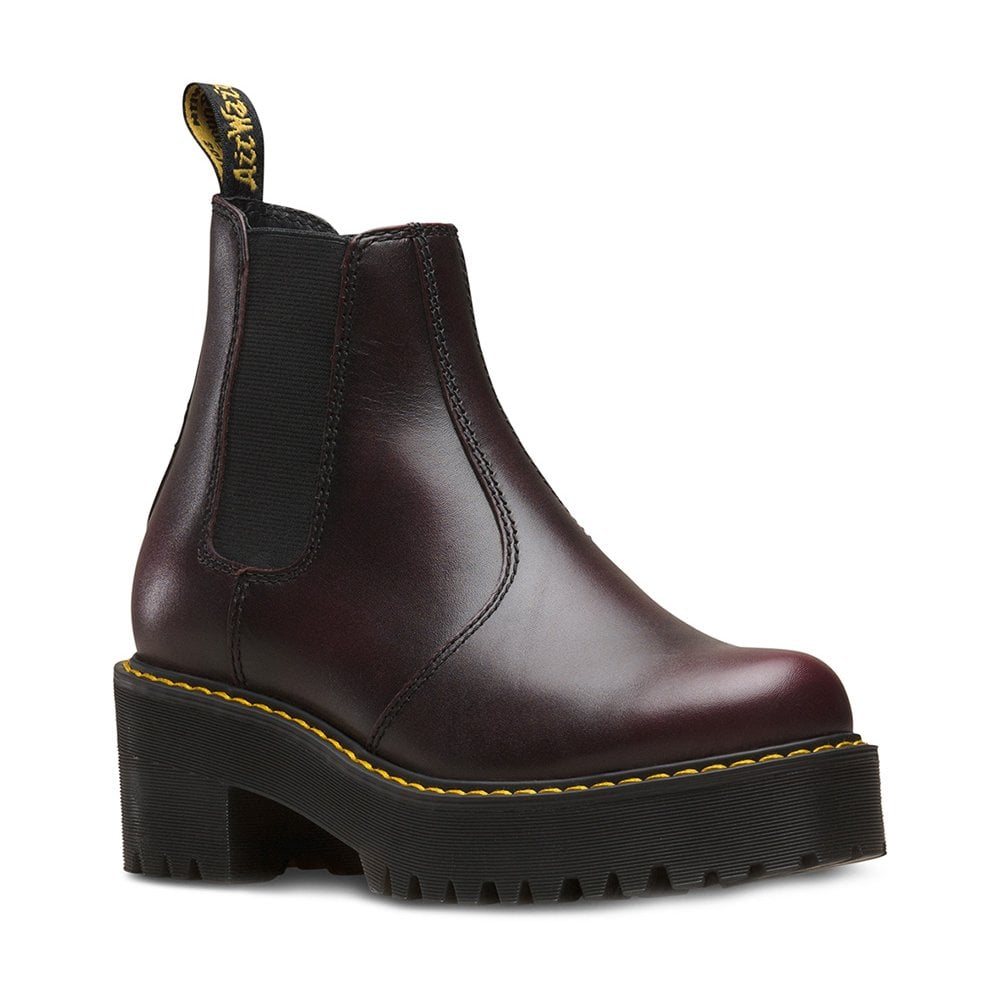 2fdd40210e00 Dr Martens Rometty Womens Leather Chelsea Boots - Burgundy