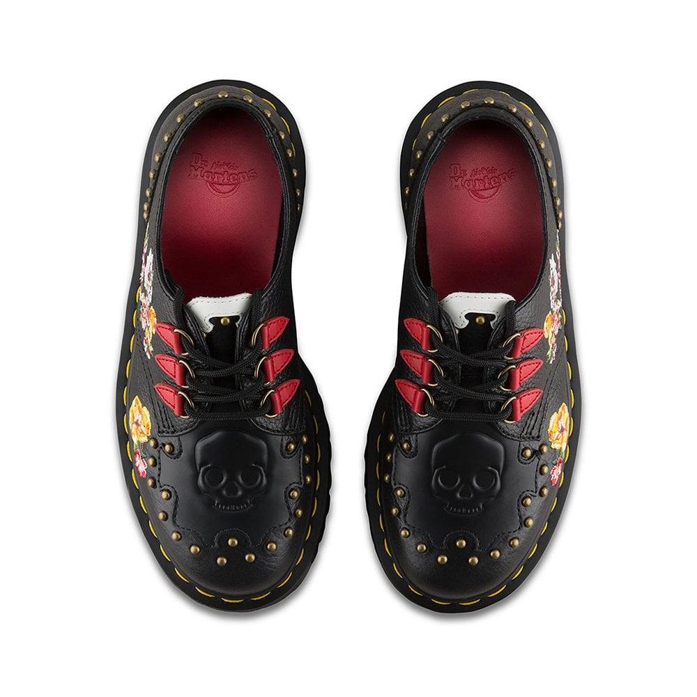 Schuhe für billige große Auswahl an Farben und Designs mehrere farben Serova Womens Leather 3-Eyelet Shoes - Black