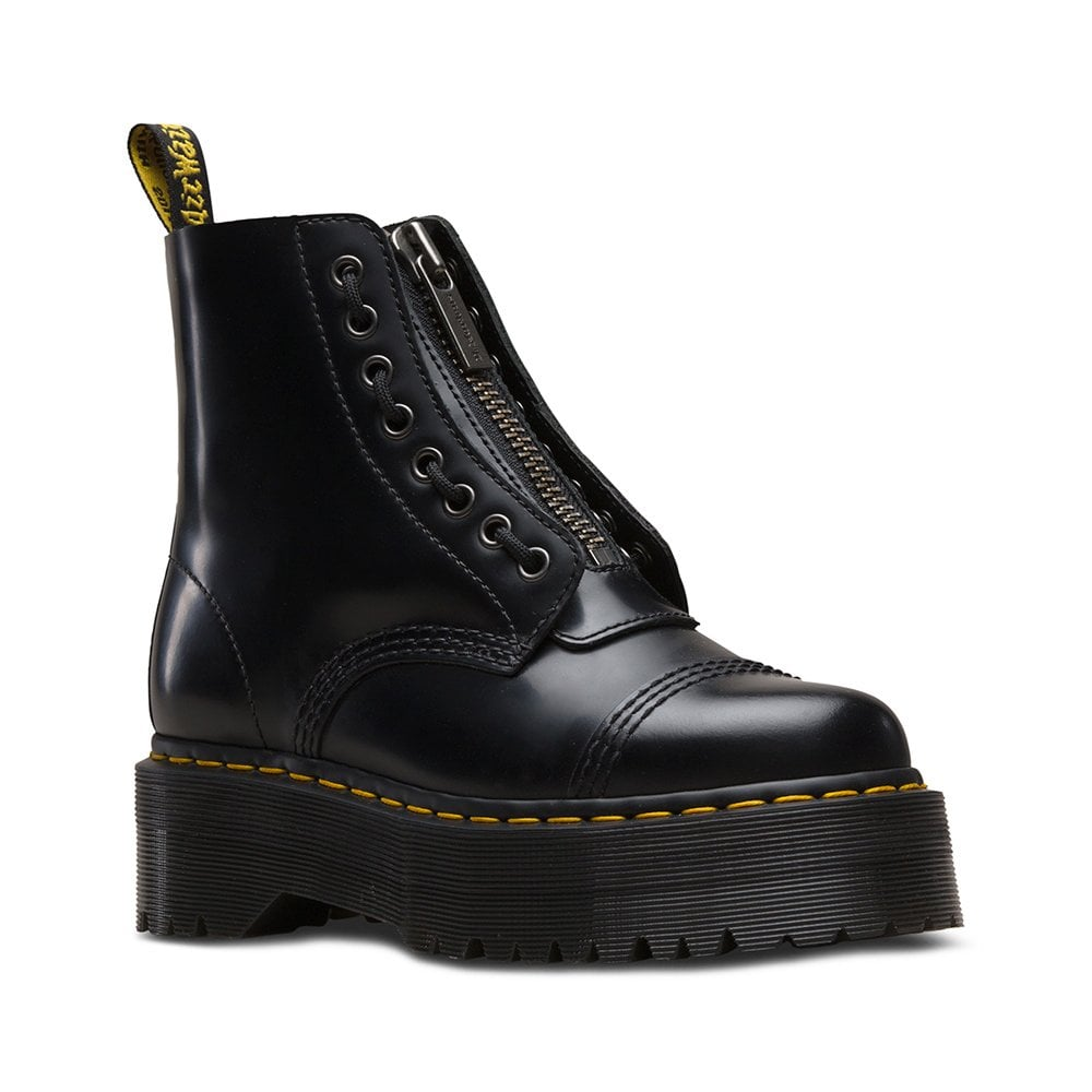 variety design on feet at noveldesign Sinclair Womens 8-Eyelet Leather Boots - Black
