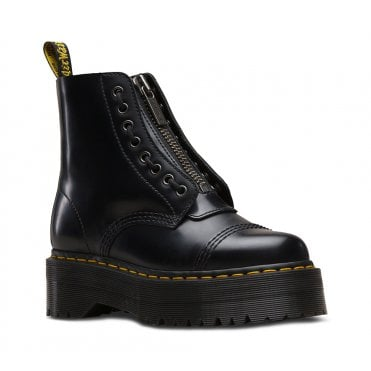 Dr Martens Sinclair Womens 8-Eyelet Leather Boots - Black