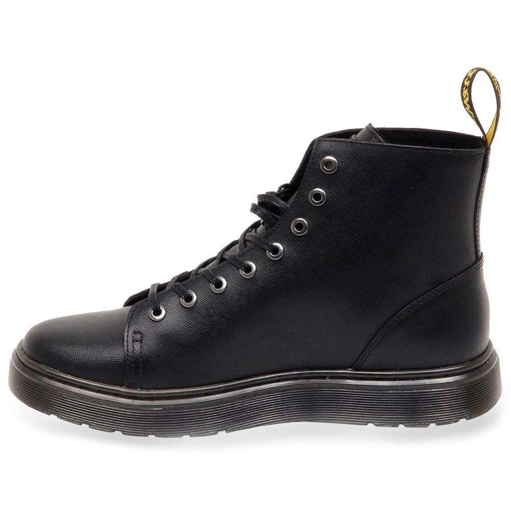 4c70d8f1506 Talib Mens Leather Lace Up Boots - Black