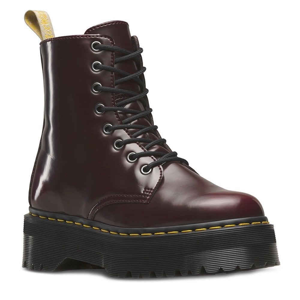0f321d92b54e Dr Martens V Jadon II Unisex Vegan 8-Eyelet Boots in Cherry Red