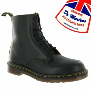 Dr Martens Vintage 1460 Boys And Girls Leather 8-Eyelet Boots Black Made In England