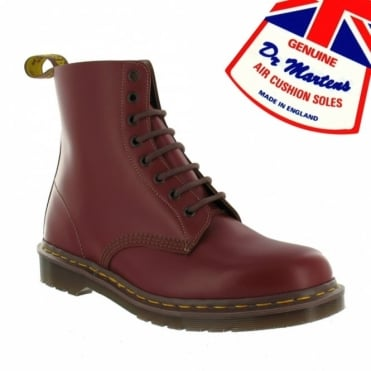 Dr Martens Vintage 1460 Boys and Girls Premium Leather Ankle Boots - Oxblood - Made in England