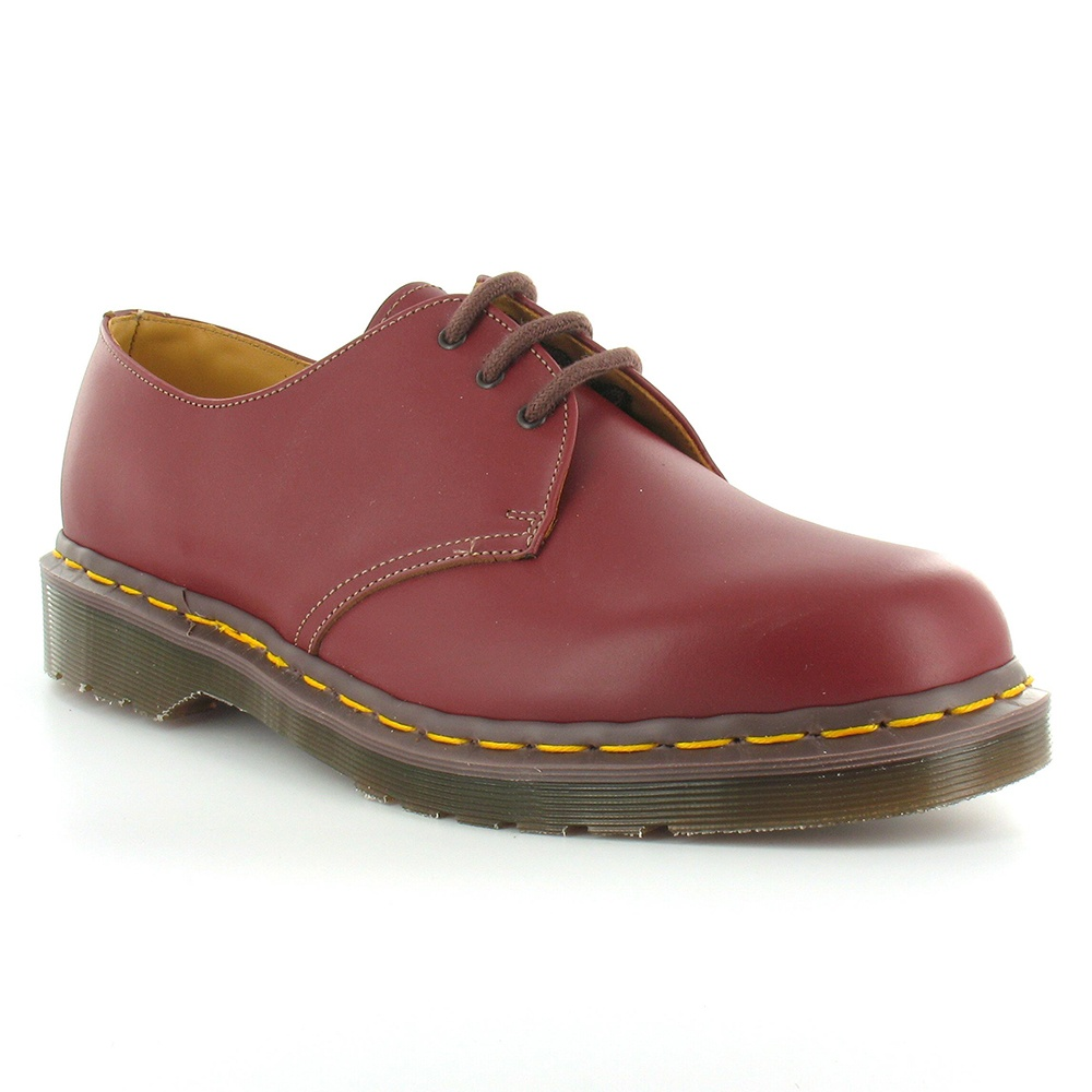 Dr Martens Vintage 1461 Made in England Mens Leather Lace Up Shoes - Oxblood