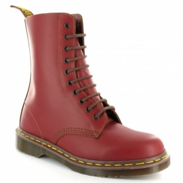 Dr Martens Vintage 1490 Mens Premium Leather 10-Eyelet Boots - Oxblood Red - Made In England