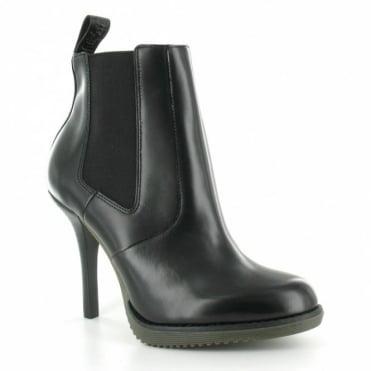 Dr Martens Zita Roni Womens Leather Stiletto Heel Chelsea Boot - Black