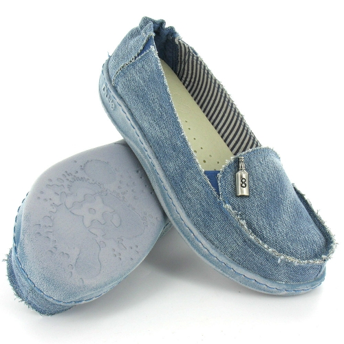 Hey Dude Hey Dude Lady Womens Canvas Slip On Shoes Jeans