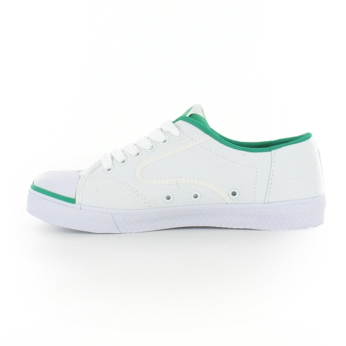 Dunlop Green Flash Mens Tennis Shoes In White Amp Green At