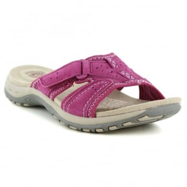 Earth Spirit Indiana Womens Slip-On Walking Sandals - Cerise Pink