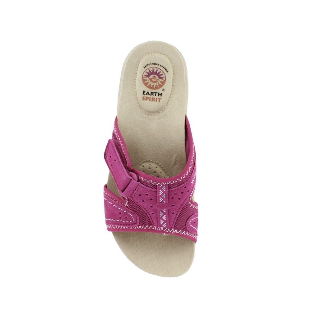 earth spirit indiana womens slip on walking sandals