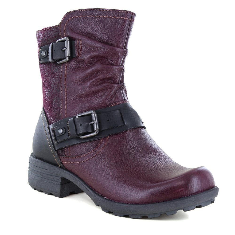 top quality discount price Official Website Elmwood Womens Leather Hi Ankle Boots - Rich Plum