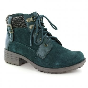 f989559978 Earth Spirit Mobile3 Womens Suede Leather 5-Tie Ankle Boots - Pine Green