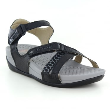 Earth Spirit Pittsburgh Womens Walking Sandals - Black
