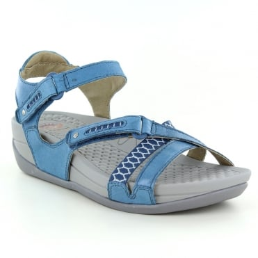 Earth Spirit Pittsburgh Womens Walking Sandals - Moroccan Blue