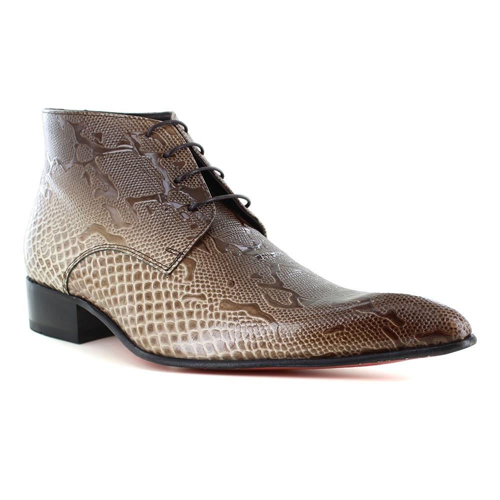 Fertini 7275 Mens Patent Leather Faux Crocodile Skin Lace