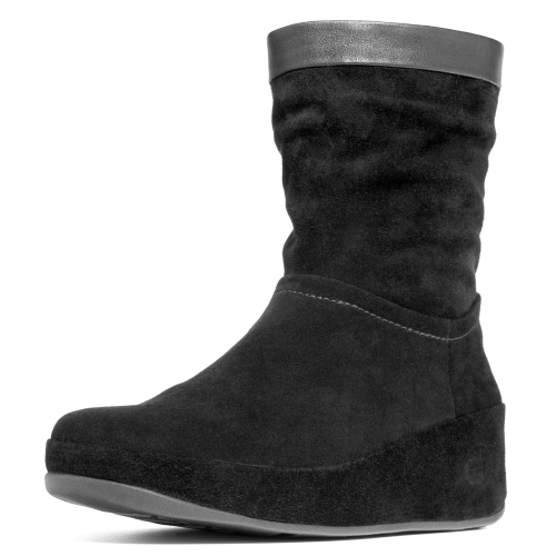 fitflop crush boot womens leather slouch ankle boots in