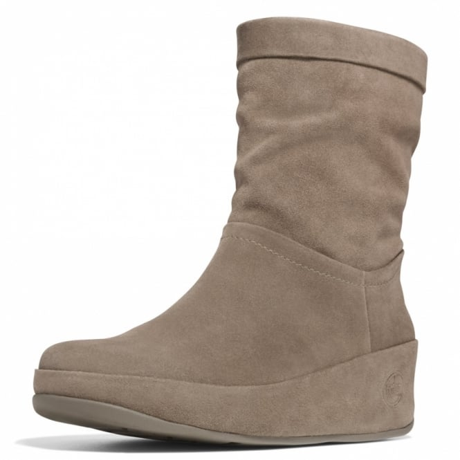 b758d7c9fee0ae FitFlop Crush Boot Womens Leather Slouch Ankle Boots in Bungee Cord ...