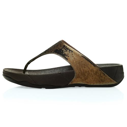 0ac4832aeff87 FitFlop Electra Womens Glitter Girl Toepost Sandals - Bronze ...