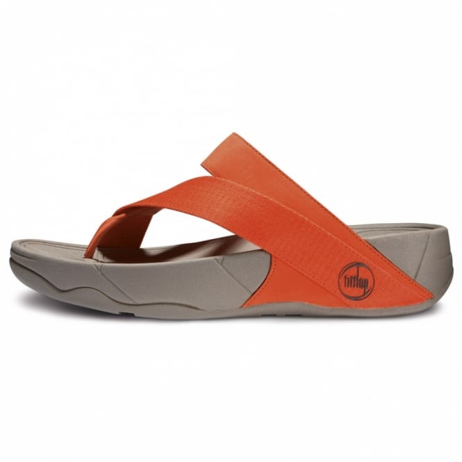 f8e7cf25787b4 FitFlop FitFlop Sling Sport Womens Leather and Canvas Strapped Sandals -  Fresh Orange