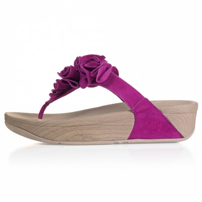 312843d0b FitFlop Frou Womens Ruffled Suede Leather Sandals - Fuchsine Purple ...