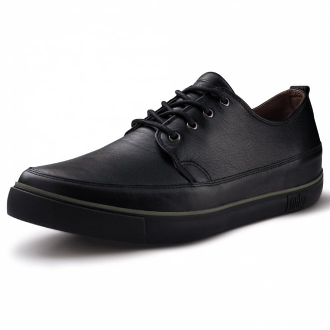 2f9271a57f FitFlop Kooper Mens Leather Lace-up Shoes - Black | Men's Leather ...