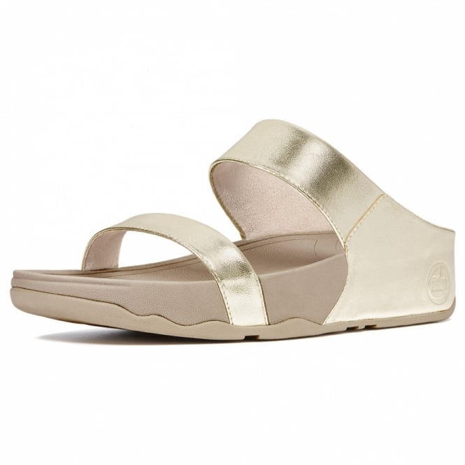 0cc8529a27a82 Buy FitFlop Lulu Slide Sandals in Gold Leather at Scorpio Shoes