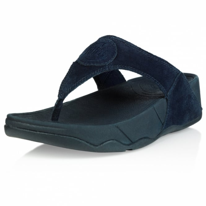 bcbf3a718ea3 FitFlop Oasis 2 Womens Suede Leather Toe-post Sandals - Super Navy ...
