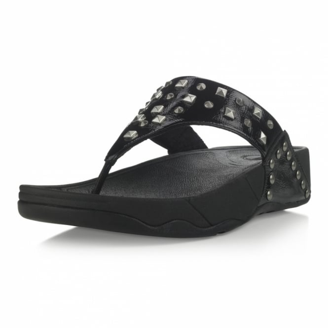 3500283dd6b6 FitFlop Rebel Womens Studded Toe-post Sandals - Black - Womens from ...