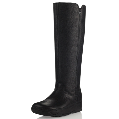 bbe376ae49b3 Fitflop Boots Superboot Tall Leather Black