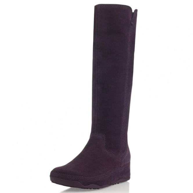 5461edd26 Fitflop Superboot Tall Suede Amethyst