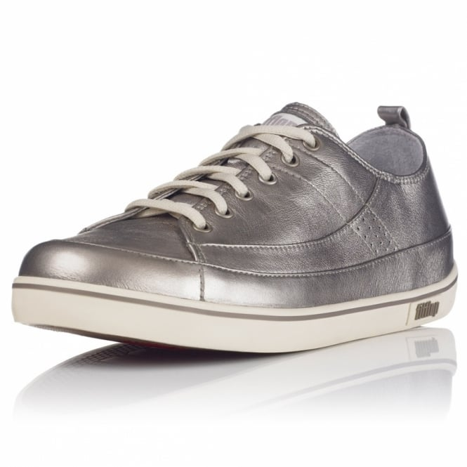 372514de818 FitFlop FF Supertone Womens Leather Trainers - Pewter - Sandals from ...