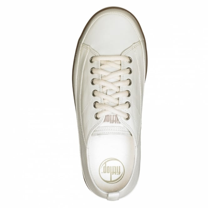 d9d6c2efaba FitFlop Supertone Womens Leather Trainers - Great White - Sports ...